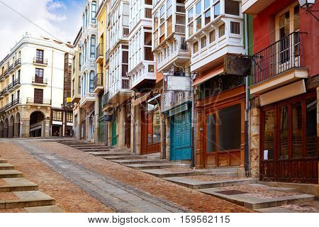 Zamora street Balboraz in Spain by the via de la Plata way to Santiago