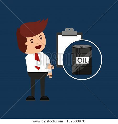 oil and petroleum industry check list vector illustration eps 10