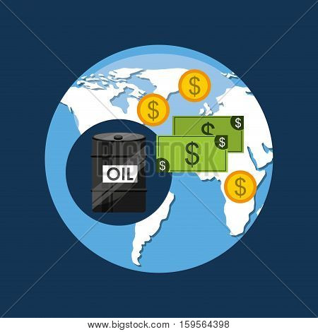 oil and petroleum industry global money vector illustration eps 10