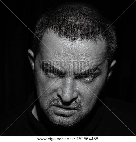 Adult Man Expressive Portrait