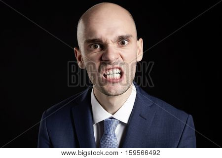 Portrait Of Angry Guy