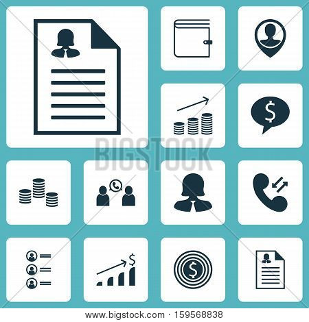 Set Of Human Resources Icons On Successful Investment, Coins Growth And Female Application Topics. Editable Vector Illustration. Includes Stacked, Conference, Discussion And More Vector Icons.