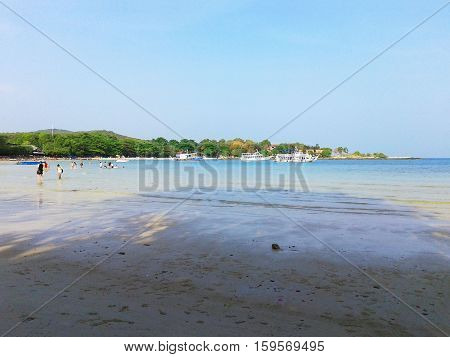 Landscape view of the beach at Koh Samet in Thailand.
