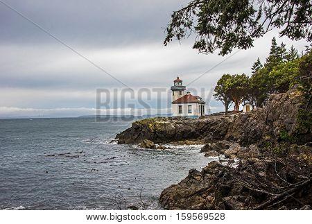 Lime Kiln Lighthouse in Friday harbor Washington