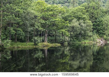 Refletive loch at Yew Tree Tarn in Lake District
