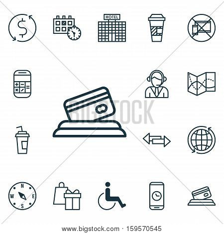 Set Of Airport Icons On Drink Cup, Appointment And Crossroad Topics. Editable Vector Illustration. Includes Accessibility, Exchange, Appointment And More Vector Icons.
