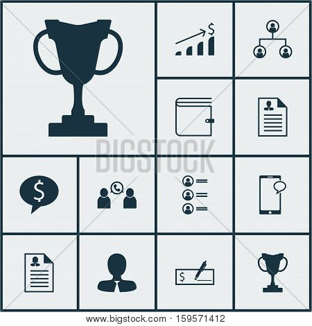 Set Of Human Resources Icons On Messaging, Curriculum Vitae And Bank Payment Topics. Editable Vector Illustration. Includes Profile, Cup, Female And More Vector Icons.