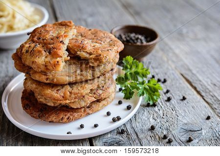 Fritters Made Of Cracklings And Sour Cabbage