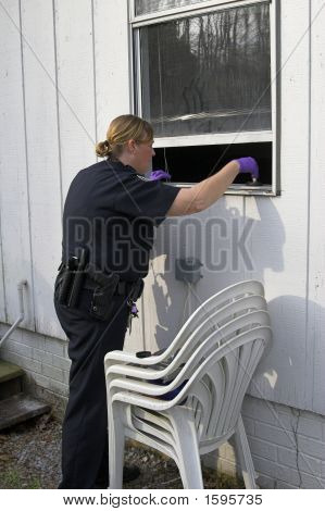 Police Dusting For Prints