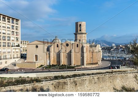 Church Saint Laurent From 12Th Century In Marseille, France