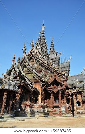 Sanctuary Of Truth Located In Pattaya Thailand