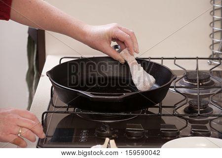Frying Chicken Drumsticks