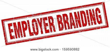 employer branding. square. stamp. grunge. vintage. sign. Isolated