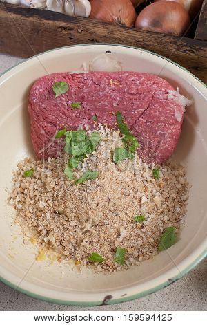 Making Beef Meatballs