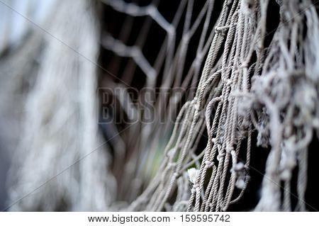 old nylon mesh bokeh old, rope background
