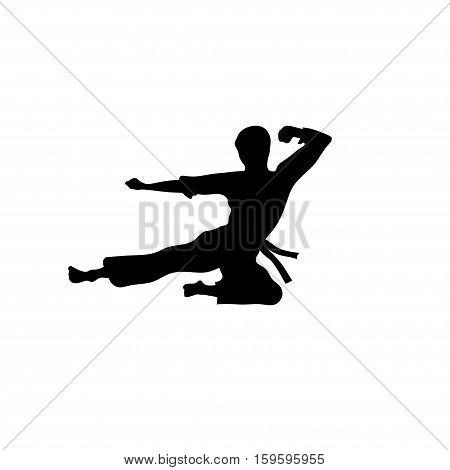 Karate sport vector ,martial art silhouette vector, fight sport vector