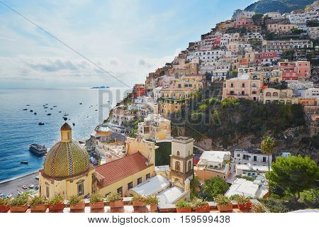 Scenic View Of Positano, Italy