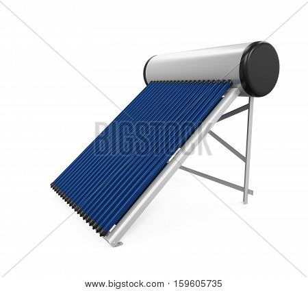 Solar Heat Pipe Collector isolated on white background. 3D render