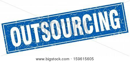 outsourcing. square. stamp. grunge. vintage. sign. Isolated