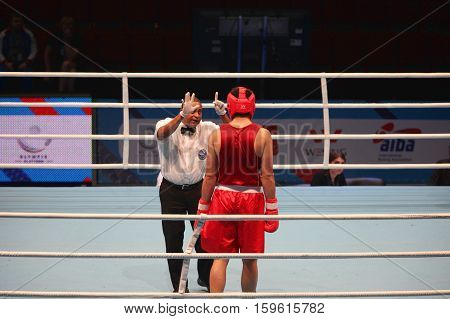 St. Petersburg Russia November 21 2016 AIBA Youth World Boxing Championships men