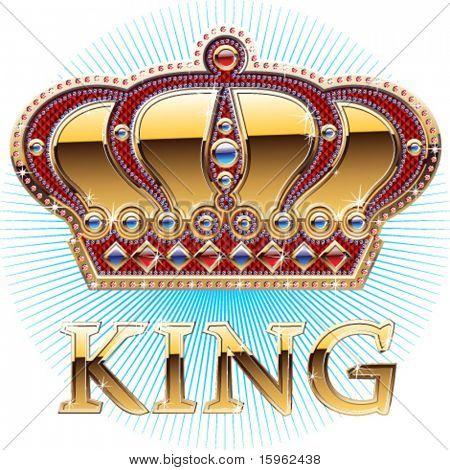 Höhe detaillierte brillante Krone