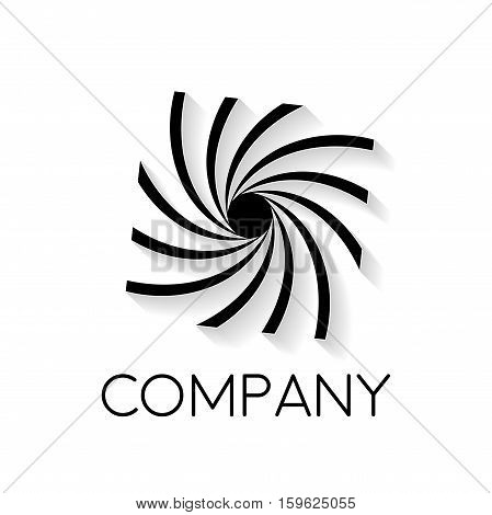 Vector sign abstract photographer in linear style