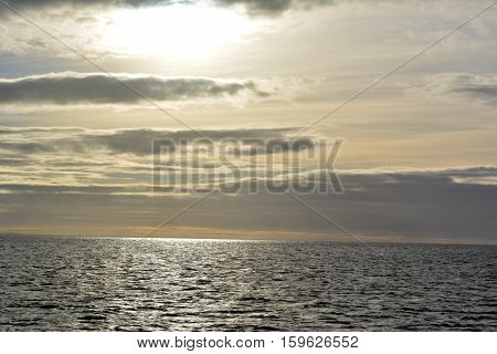 Sunset at Strait of Magellan   in Chile