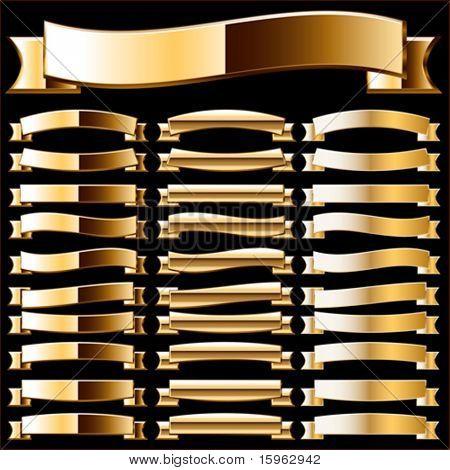 Ribbon set of pure gold