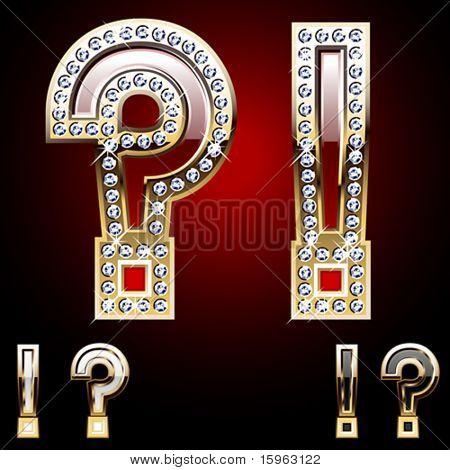 Dettagliate simbolo di oro e diamanti