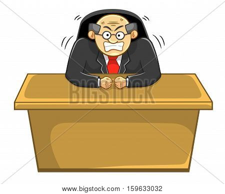 Angry Boss on Table. Best for Office, Business, Job Concept.