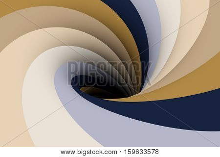 black hole in brown color 3D illustration
