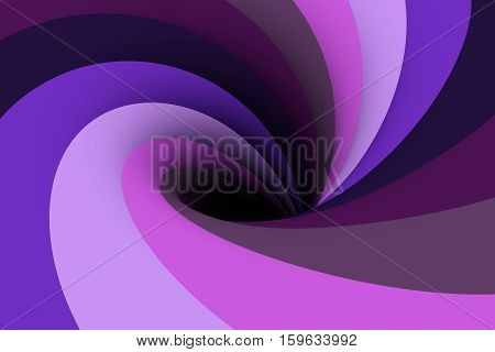 black hole in denim color 3D illustration
