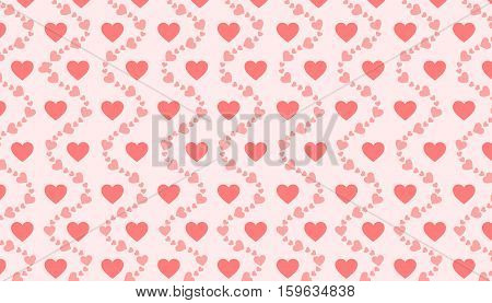 Vector illustration of hearts background. Best for Love, Background, Abstract Concept.