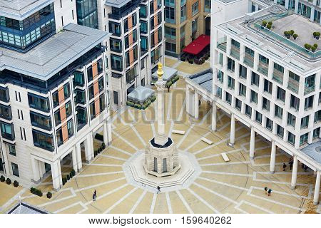 Skyline Of London With Paternoster Square