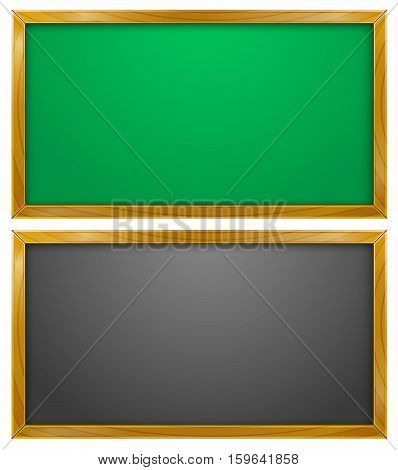 Vector Illustration of Blackboard or Chalkboard. Best for Education, School concept.