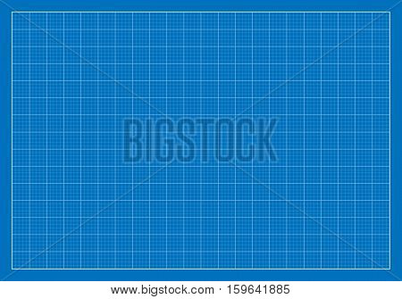 Vector Illustration of a Blank Blueprint. Best for Architecture, Construction, Backgrounds, Design, Planning Concept.