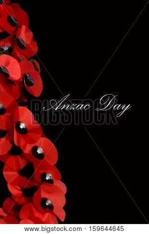 Abstract Creative Anzac Day Remembrance Poppy Scene