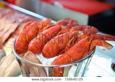 Fresh Seafood Lobster