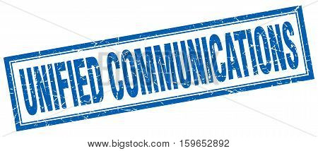 unified communications. square. stamp. grunge. vintage. sign. Isolated