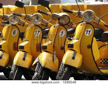 Yellow Scooters