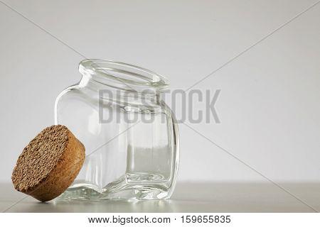 Smal Empty Glass Jar