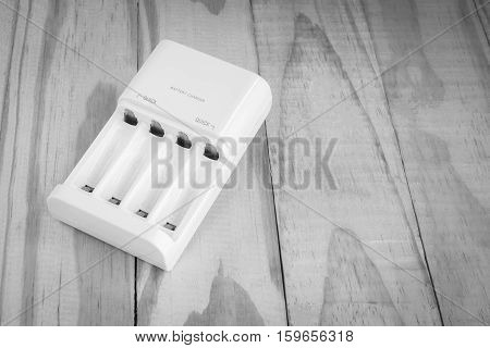 quick battery charger unit for charger on wooden