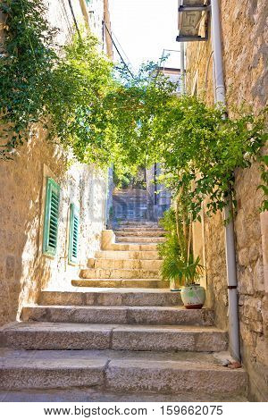 Old Narrow Stone Street Of Vis