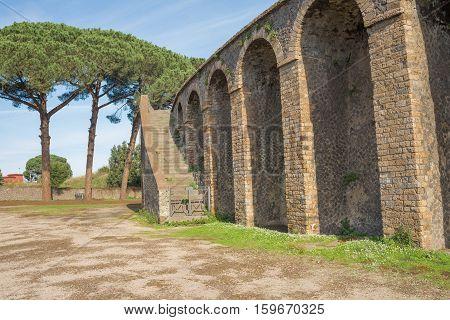 Pompeii Ruins Amphitheater  - Italy