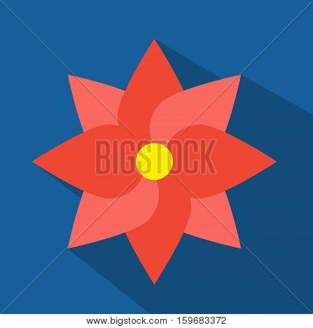 Red Tone Flat Flower , Vector, Illustration