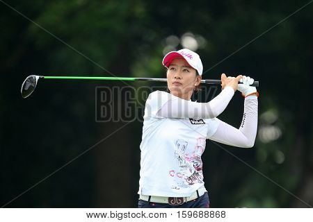 KUALA LUMPUR, MALAYSIA - OCTOBER 29, 2016: Chella Choi of South Korea tees off at the TPC Golf Course at the 2016 Sime Darby LPGA Malaysia golf tournament.