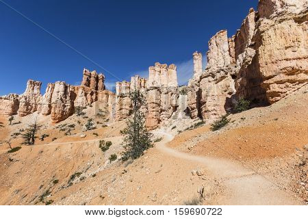 Hoodoo trail at Bryce Canyon National Park in Southern Utah.