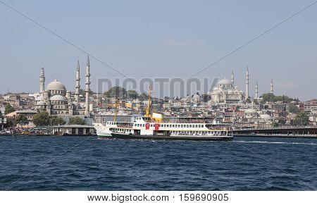 Eminonu And Fatih District In Istanbul City