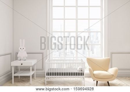 Baby's Room With A Large Window