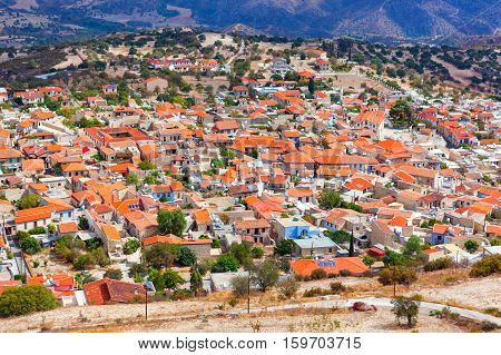 Pano Lefkara Village In Cyprus.